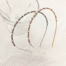 TB1055 Korean Thin Crystal Flower Headband Wedding Bridal Hair Accessories Hair Jewelry Pearl Tiara Headwear Costume Jewellery