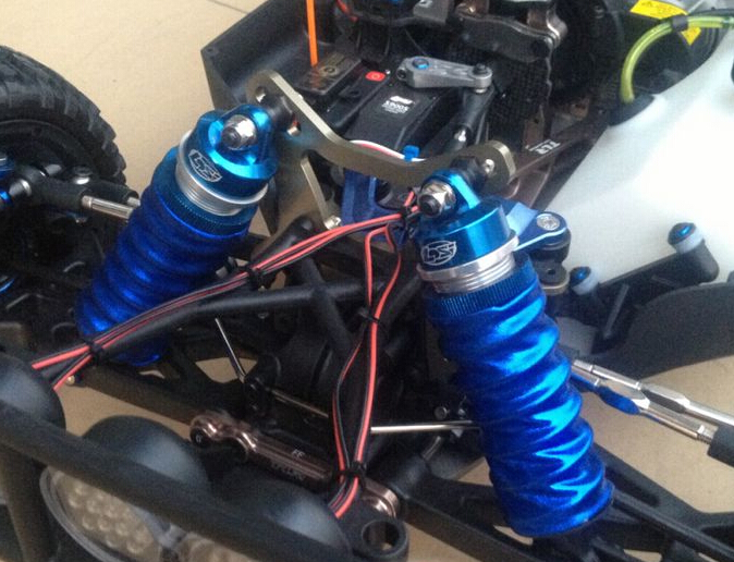 Shock Absorber Car >> Shock absorber dust cover anti dust for Losi DB XL 5T 5IVE T RCMK 1/5 rc car blue and red choose ...