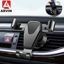 Arvin Car Phone Mount Holder For Universal Mobile Triangle Gravity Air Vent Bracket X XR 8P Stand in