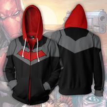 Бэтмен: под красным колпаком Костюмы для косплея Бэтмен 3D печати толстовки-Красная Шапочка худи на молнии Для мужчин и wo Для мужчин спортивные толстовки