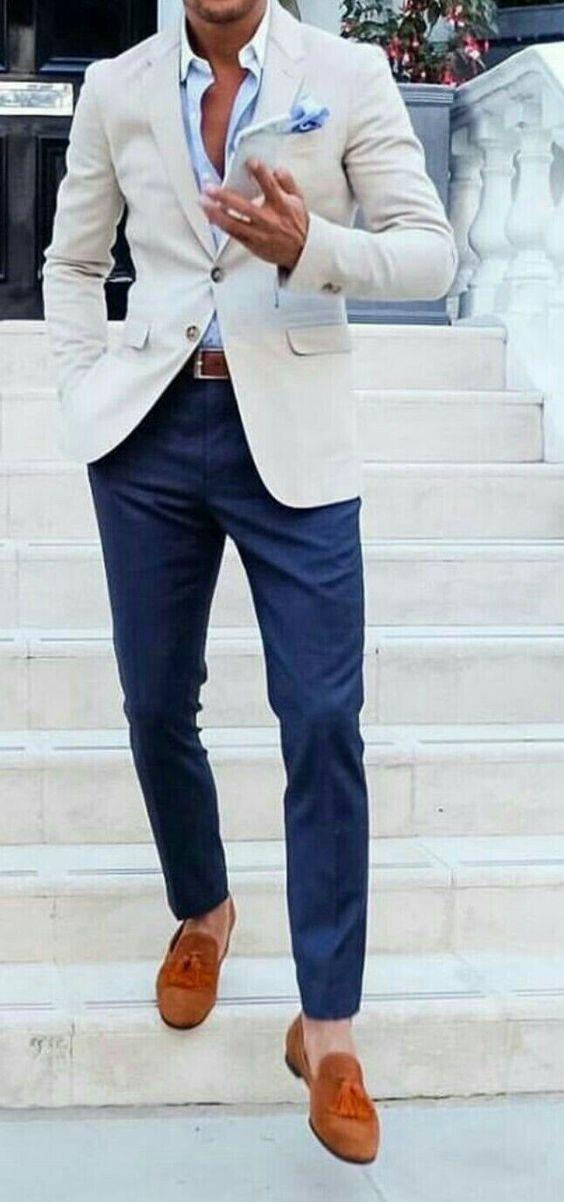 2017 Latest Coat Pant Designs Ivory White Casual Men Suits Beach Custom Bridegroom 2 Pieces Slim Fit Tuxedo Jacket+Pants 297
