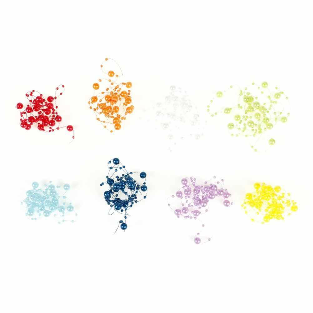 Linea di pesca Artificiale Perle Catena di Perline Ghirlanda di Fiori Per La Cerimonia Nuziale Bouquet Da Sposa Decorazione Floreale 8 colori