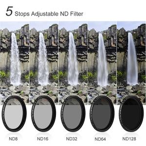 Image 4 - K & F Concept ND8 128 Variabele ND Filter 62mm 67mm 72mm 77mm 82mm GEEN X spot Vervagen Neutrale Densityr Filter Voor Canon Nikon Sony Lens