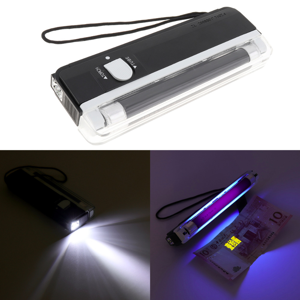 Handheld Portable Mini LED Night Light UV Torch Lamp Battery Powered Blacklight Party Stage Dj Pet Money Verify Lamp alonefire 3aa 395nm uv ultra violet blacklight 8w 51 led flashlight torch lamp light with aa battery powered