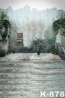 Concrete Wall Wooden Floor Wedding Custom Photography Backdrop Studio Background Vinyl 1 5X2m Retro Photo Background