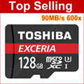 90 МБ/с. 600x Карта Micro Sd 16 ГБ 32 ГБ microSDHC Micro SDHC Class 10 64 ГБ 128 ГБ microSDXC Micro SDXC C10 U1 TF Карты Памяти читатель