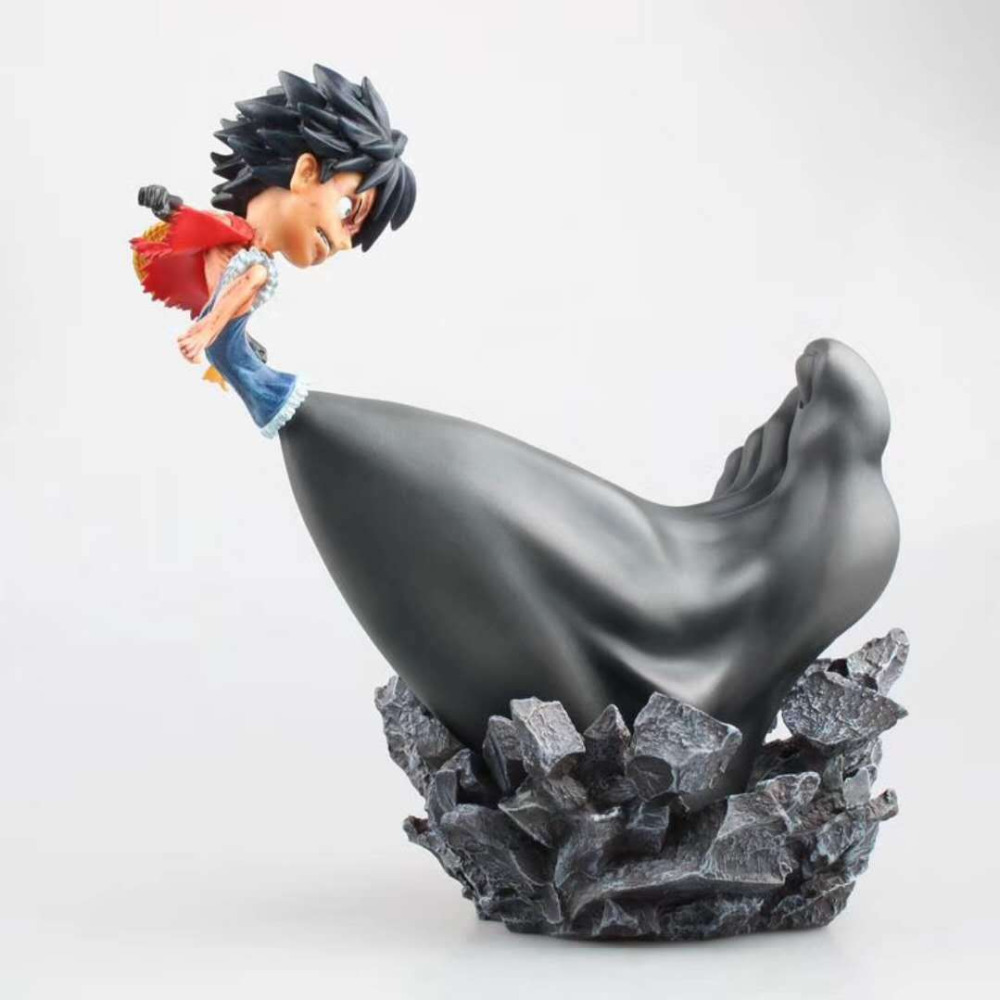 Tobyfancy One Piece PVC Action Figure Cute Luffy Big Leg Three Gear Luffy Onepiece Collection Model Toy 25cm