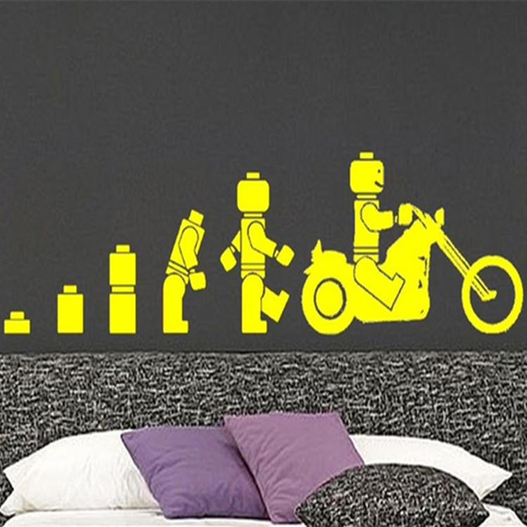 free shipping LEGO EVOLUTION Of The Motorbike Decal WALL STICKER ...
