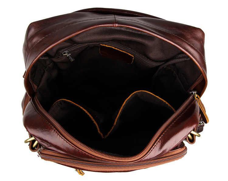 Nesitu Винтаж красно-коричневый Пояса из натуральной кожи леди Для женщин Рюкзаки из воловьей кожи для девочек-подростков рюкзак Дорожные сумки # m7042