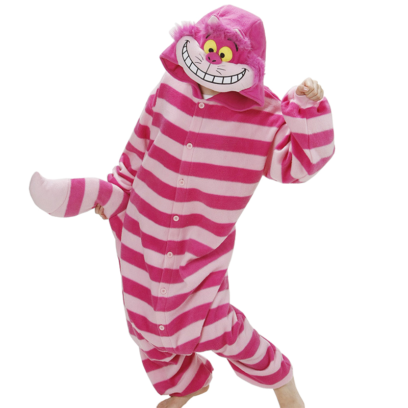 Anime Pajama Cartoon Unisex Adult Cheshire Cat Pajamas Cosplay Party Costume Animal Onesie Sleepwear Animal pajamas