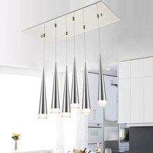 IKVVT Modern Simple Pendant Lights Aluminum Cone LED Hanging Lamp for Livingroom Restaurant Indoor Corridor Silver/Black/White