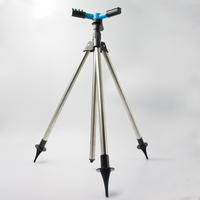Garden Lawn Farmland Plant Watering Adjustable Height Tripod 360 Degree Y Type Sprinkler Pulsating Telescopic