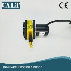CALT 400mm Stroke Gama Sensor de Posição Do Sensor de Deslocamento Puxar o Movimento Draw Codificador Fio CESI-S400