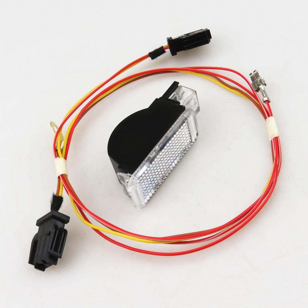 READXT Coffre De Voiture Intérieur Lampe Avertissement lumière + Fil Plug Pour Q5 Q7 TT R8 A6 A3 A4 VW Sharan phaeton Seat Leon Ibiza 8KD947415C
