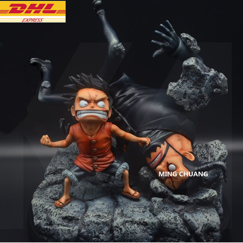 Statue ONE PIECE The Straw Hat Pirates Bust Monkey D. Luffy VS Blueno Full-Length Portrait GK Action Figure Toy BOX D681 9statue one piece monkey d luffy bust the straw hat pirates gk action figure collectible model toy box d616