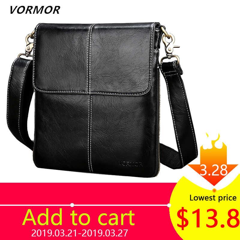 ef4edbf8efb9 VORMOR кожаная мужская сумка модная кожаная сумка через плечо мужская сумка-мессенджер  маленькие повседневные дизайнерские
