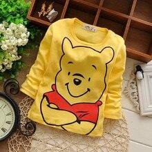 Дна прекрасные высота большие медведь печать малыш девочки футболки рубашка мальчики