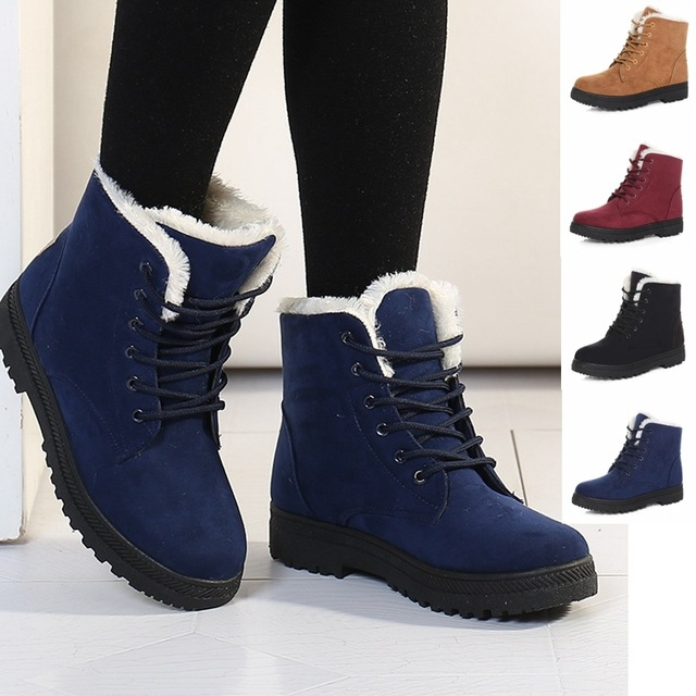 Women Winter Boots 35 44 Fur Snow Boots Women Ankle Boots ...