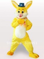 Hot sale! mascot costumes for adults Yellow Rabbit for sale Animal carnival costume Halloween Dress kids party free shipping