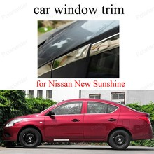 Exterior Car Accessoires For N-issan New Sunshine  Stainless Steel Window Trim car Styling decoration strip