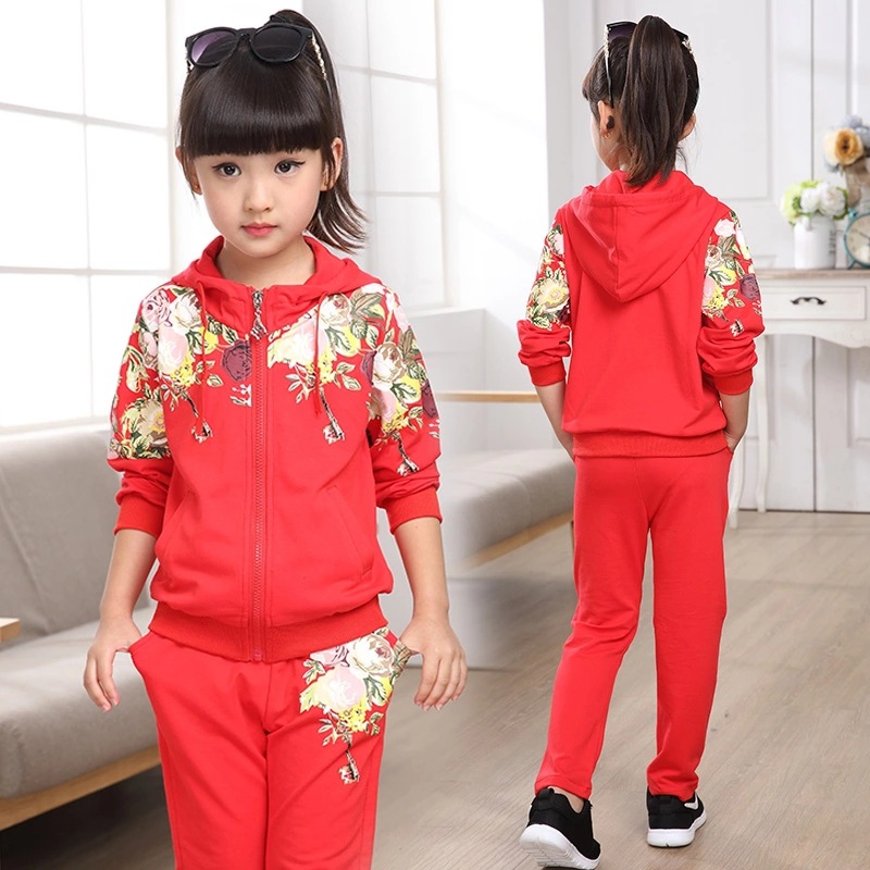 Girls Clothing Set 2019 Autumn Floral Clothes Set For Girl Children Sport Suit Kids tracksuit Teenage 4 6 8 10 12 YearsGirls Clothing Set 2019 Autumn Floral Clothes Set For Girl Children Sport Suit Kids tracksuit Teenage 4 6 8 10 12 Years