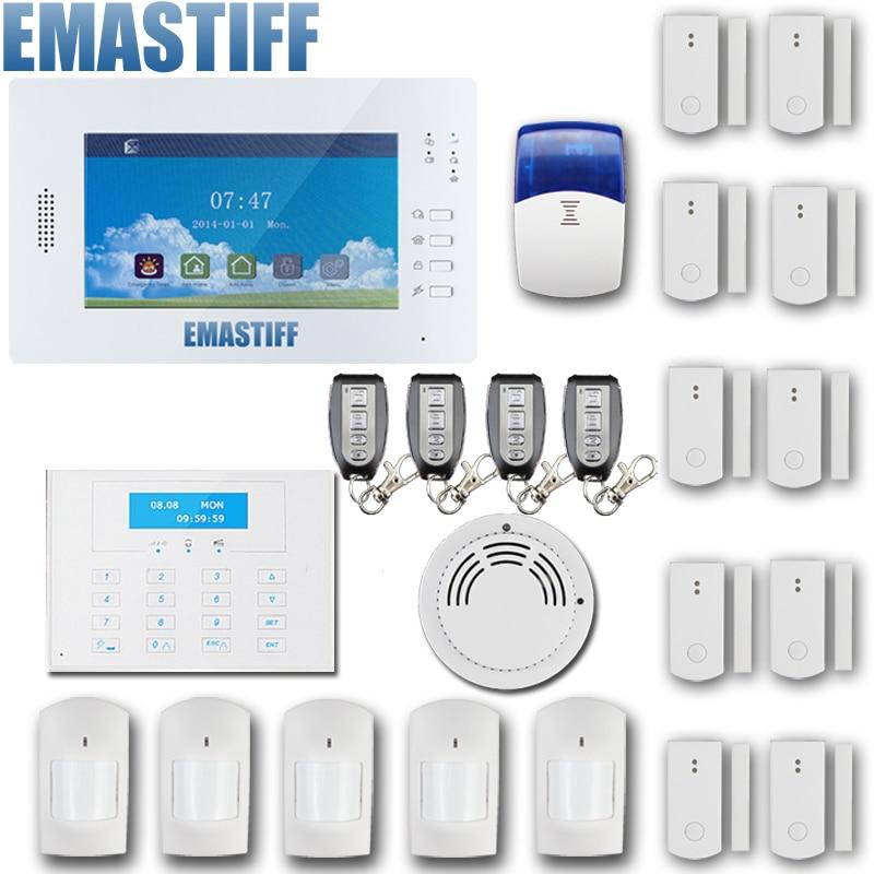 free DHL 868mHz Wireless PSTN Wireless Alarm System GSM Network,Smart APP GSM+PSTN alarm gsm alarm system 868mhz