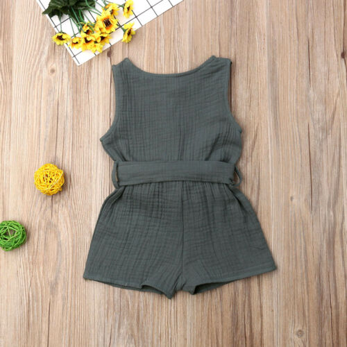 Neugeborenes Kleinkind Baby Drak Green Yellow Purple Pure Cotton Sleeveless Mädchen Sommer Feste Strampler Overall Outfits in Clothing Sets from Mother Kids