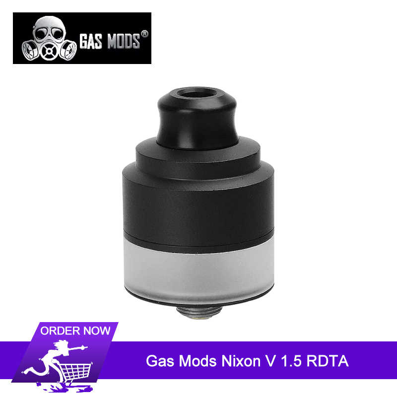 Original Gas Mods Nixon V 1.5 RDTA Tank 2ml 22mm Adjustable invisible airslots dual post rebuildable Vape Tank support squonking