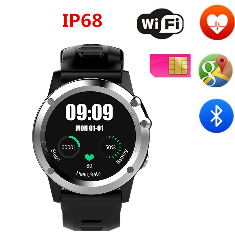 Wearable H1 GPS Smart Watch MTK6572 IP68 Waterproof Camera GPS Wifi 3G Heart Rate Monitor 4GB smart phone watch For Android IOS h1 smart watch android 4 4 os smartwatch mtk6572 512mb 4gb rom gps sim 3g heart rate monitor camera waterproof sports wristwatch