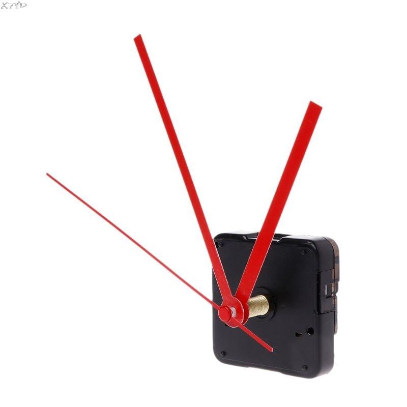 Quartz Clock Movement Mechanism Hands Wall Repair Tool Parts Silent Kit Set DIY Red Pointer 32#
