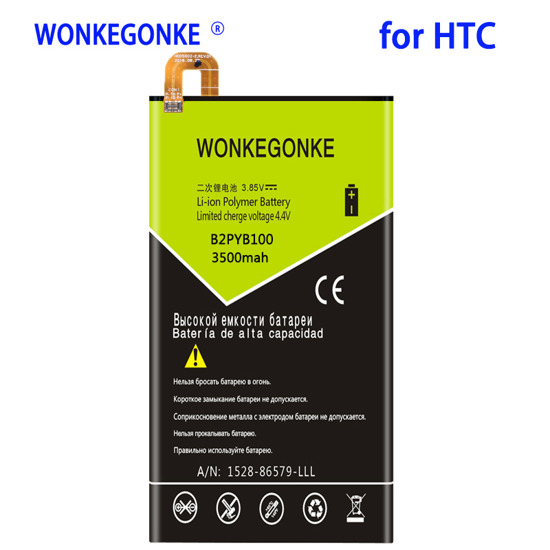 WONKEGONKE 3500mah B2PYB100 for <font><b>HTC</b></font> M11 <font><b>10</b></font> <font><b>EVO</b></font> Bolt M10f High Quality <font><b>Batteries</b></font> Bateria image