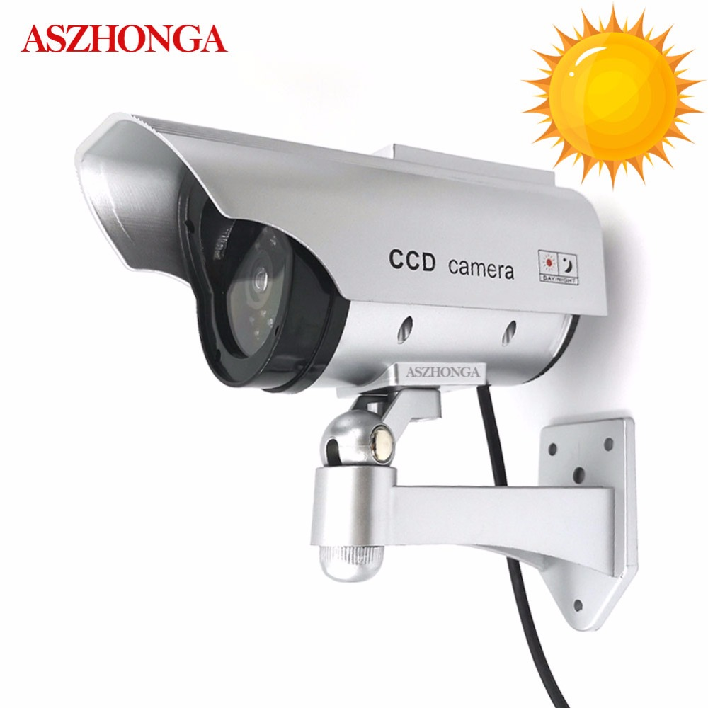 Solar Power Dummy Fake Camera Waterproof Outdoor Indoor Security Simulation CCTV Surveillance Bullet With Flashing LED Light Cam tech 2 scanner for sale