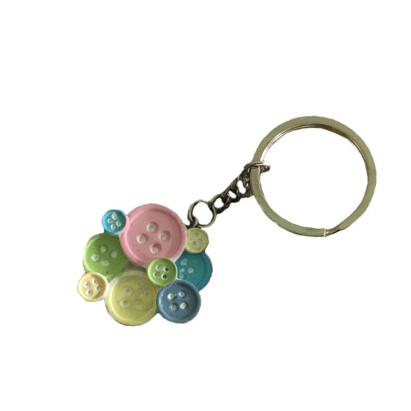 100 unids/lote botón lindo resina forma llavero baby shower favores ...