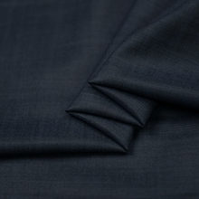 Navy blue 95% wool 5% viscose worsted fabric 285g/meter deep blue,WF173