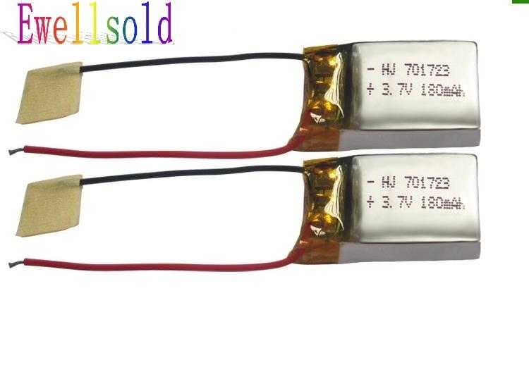Ewellsold X900 X901 RC Quadcopter spare parts 3 7v 180mAh Li polymer battery 5pcs lot Free