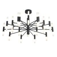 Пост современный G9 светодиодные лампы подвесной люстры минималистский Творческий металлический корпус акриловые оттенок Светодиодные ла