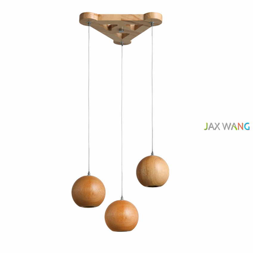 Simple wood pendant lights spherical Nordic art pendant ...