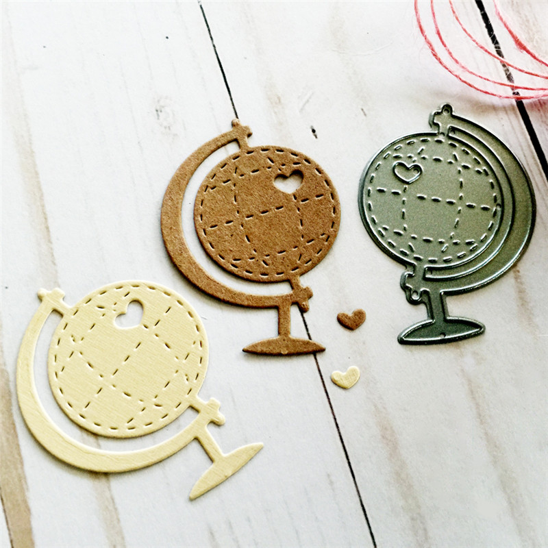Heart Globe Metal Cutting Dies for Scrapbooking New 2019 Crafts Card Making Album Embossing Stencil in Cutting Dies from Home Garden