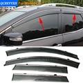 Stylingg Toldos Abrigos 4 pçs/lote Viseiras Da Janela do carro Para Mazda CX-7 2010-2016 Sol Chuva Escudo Adesivos Covers