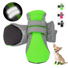 Фотография 4pcs Reflective Dog Shoes No-Slip Waterproof Boots Breathable Rain Wear Paw Protector Outdoor Sock for Small Medium Large Dogs