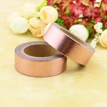 New rose gold Foil Washi Tape Quality Stationery Diy Tools Kawaii Scrapbook Paper Christmas decoration washi tape