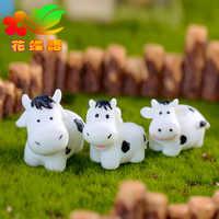 ZOCDOU 1 pieza Milch Vaca lechera ganado hermano Vaca modelo pequeña estatua pequeña figurita artesanía jardín ornamento miniaturas