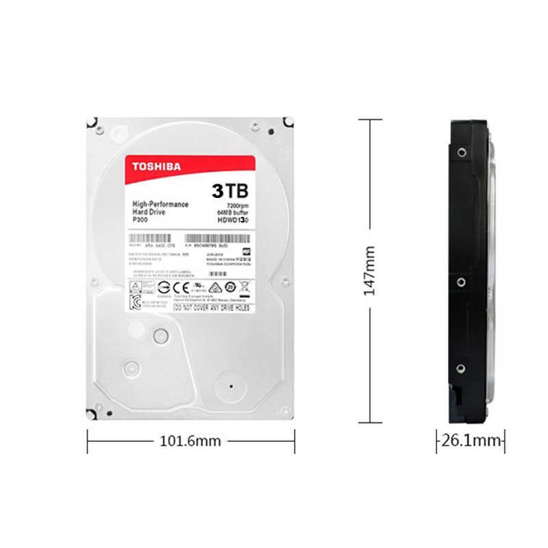 """الأصلي توشيبا HDWD130AZSTA 3 تيرا بايت 3.5 """"الداخلية HDD SATA 3.0 7200 دورة في الدقيقة 64 ميجابايت مخبأ P300 سلسلة القرص الصلب القرص لسطح المكتب PC"""