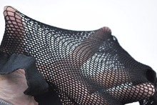 Sexy Backseam Fishnet Pantyhose stocking for Crossdresser panties