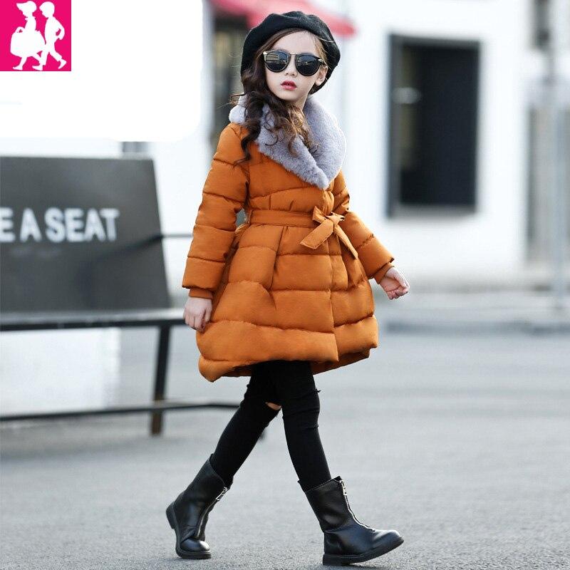 1edba6d6ce99 2018 spring Winter jacket for girls clothes Cotton Padded Hooded Kids Coat  Children clothing girl Parkas enfant Jackets   Coats