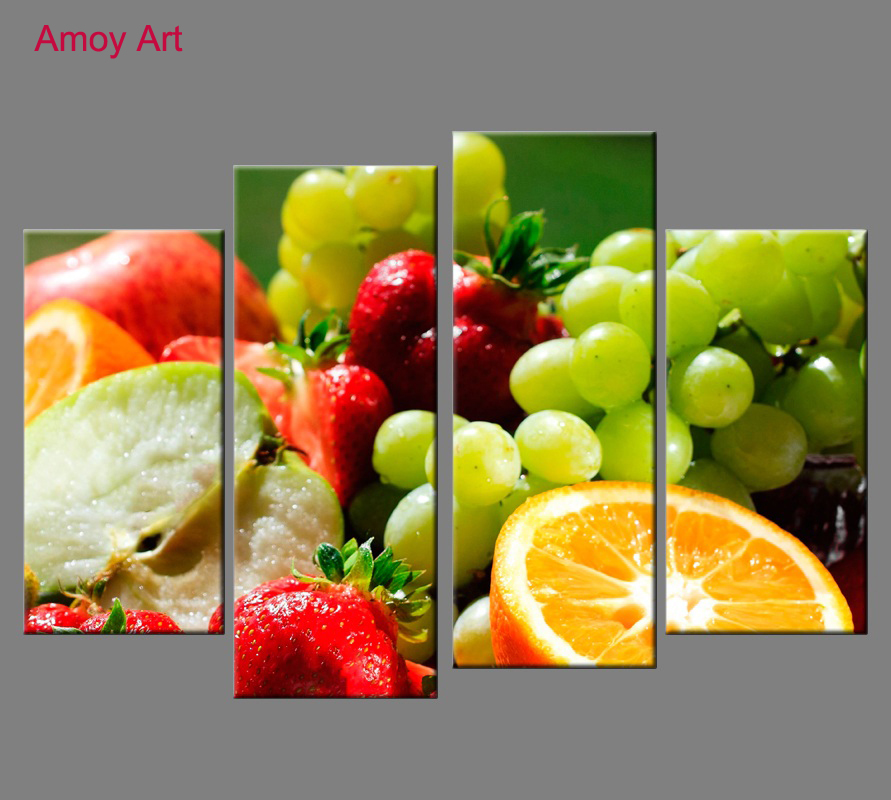 Buy 4 pieces lenmon fruits wall art for - Cuadros de cocinas ...