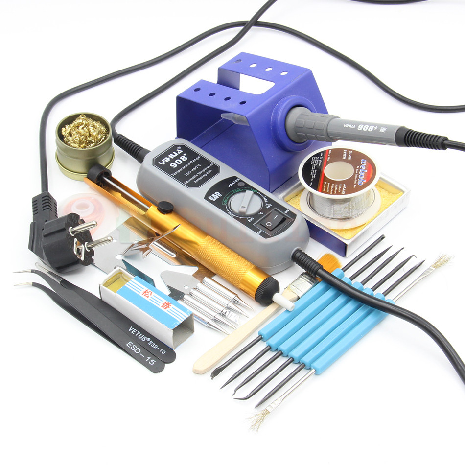 YIHUA 908+ 60w Electric Soldering iron Station Pocket Mini iron Solder Station For SMT SMD Welding Rework Repair