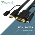 High Quality HDMI to VGA Converter Adapter HDMI Cable For PC Computer Desktop Laptop PS4 XBOX Full HD 1080P TV Monitor Projector