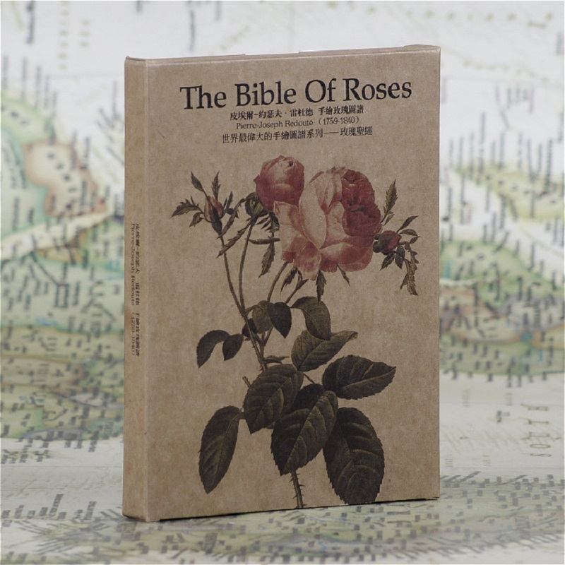 30pcs in one,Postcard,Joseph Redoute,Hand painted ,the Bible of Roses ,Christmas Postcards Greeting Birthday Cards 10.2x14.2cm a stylistic study of the language of selected greeting cards