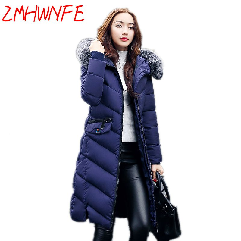 2017 Womens Winter Jackets And Coats Plus Size Winter Jakcet Women Cotton Coat Long Thick Parkas Female Padded Warm Outerwear